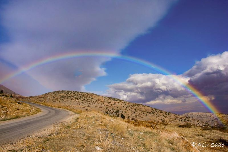 Lebanon beqaa rainbow rainbows roadtrip cloudy livelovebeirut ... (Beqaa Governorate)