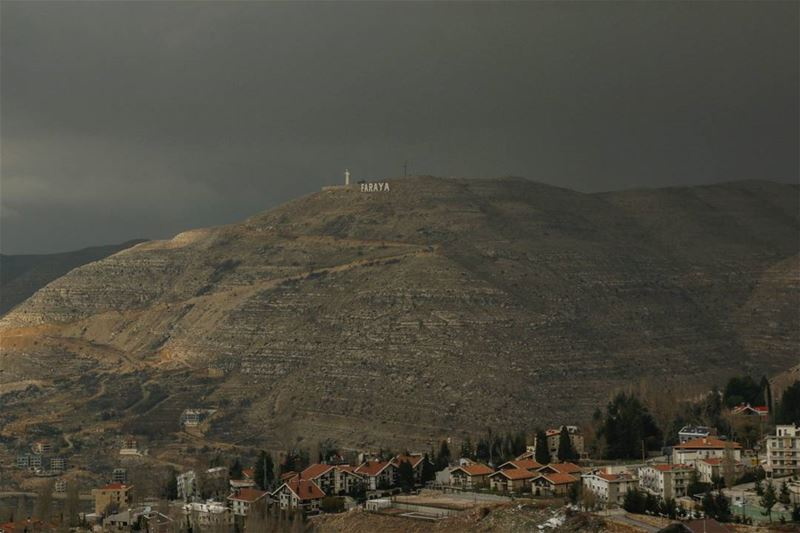 Faraya under dark clouds... lebanon liban mountlebanon montliban ... (Faraya, Mont-Liban, Lebanon)