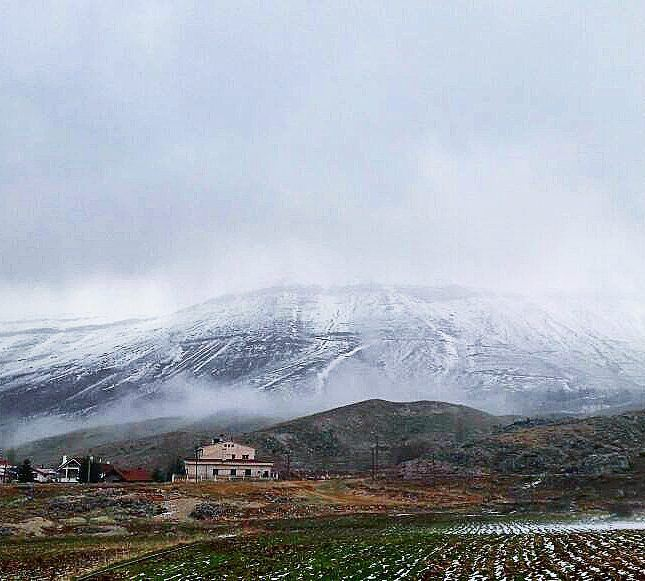 God's creation ❤🇱🇧🇱🇧 mountains cold whitemountains snow fog ... (North Governorate)