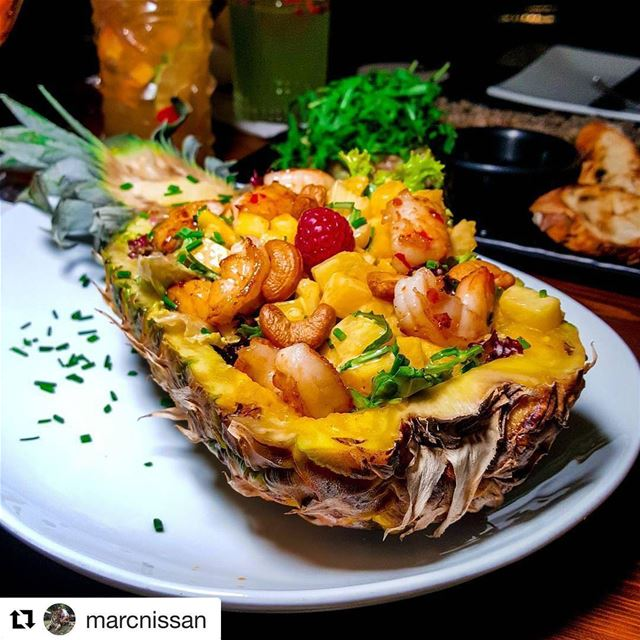 Jackie's Exotic Shrimp Salad for a delightful evening! Repost @marcnissan (Jackieo)