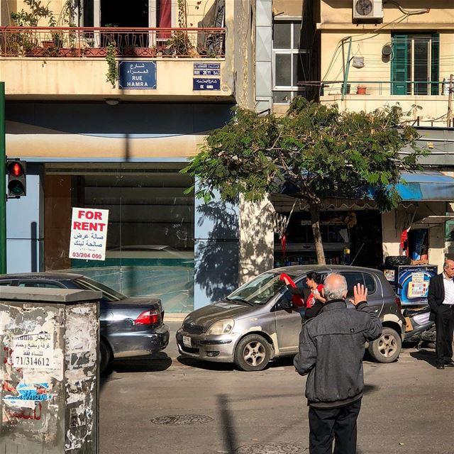Rue Hamra beirut beyrouth livelovebeirut ilovebeirut beirutcity ... (Beirut, Lebanon)