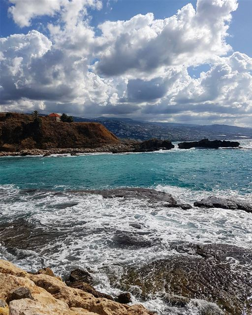 Between the blue sky and sea, all I can see is Harmony🎈⛅🌊..... (Byblos, Lebanon)