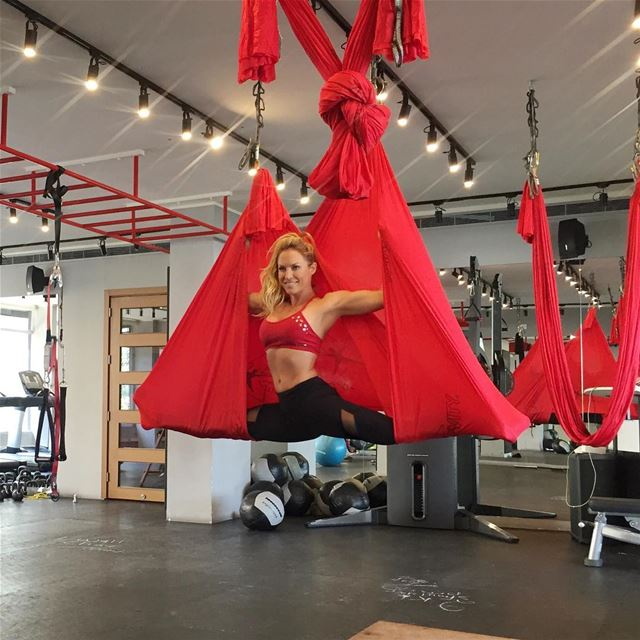 Wednesdays Aerial yoga open level class at  5.30pm @gobyuenergy Gemmayzeh ❤ (Go by U Energy)