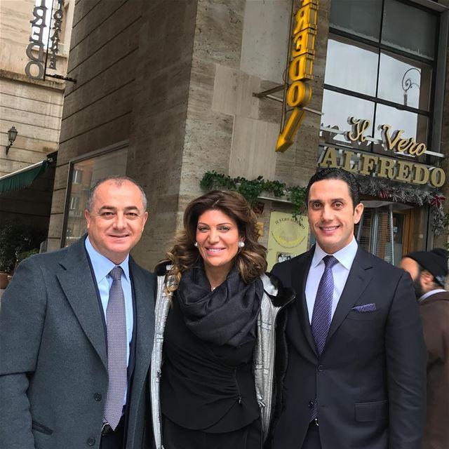 In Rome, lunch at ilveroalfredo with my good friends Lebanon's Ambassador... (Ristorante Il Vero Alfredo)