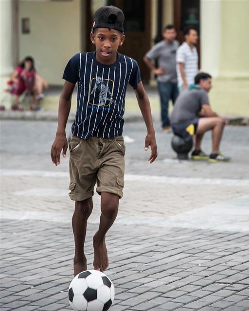 Love for a ball...shot in cuba havana football people portrait kids ...