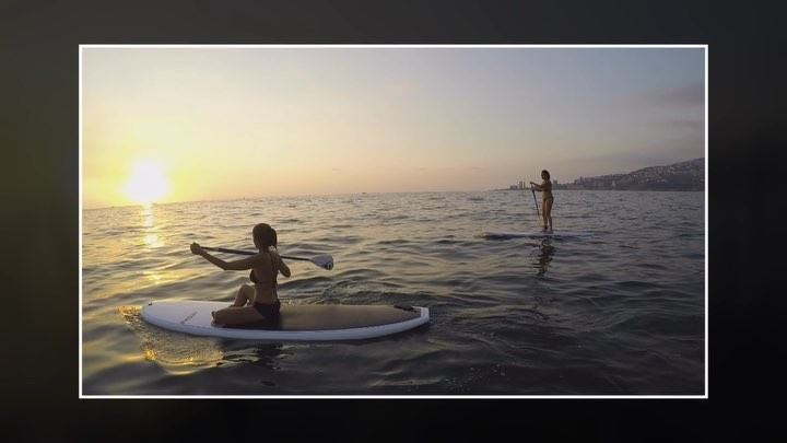 Looking back... 🌅 🌺💦... sup surfshacklebanon standup paddle ... (Surf Shack Lebanon)
