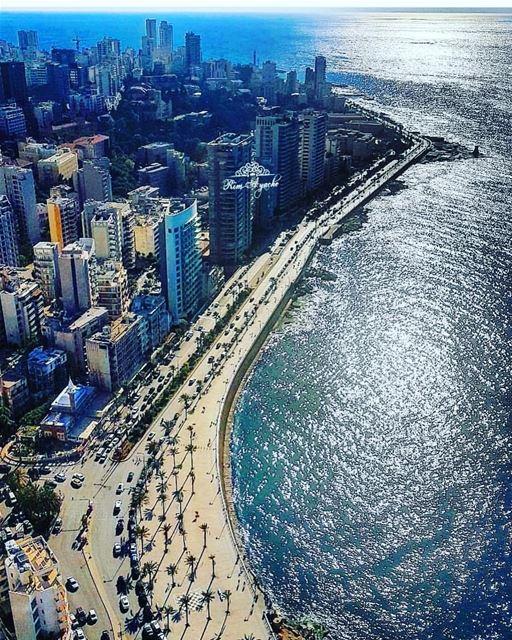 beirut middleeastern mediterranean lebanon sea ocean nature sky blue... (Beirut, Lebanon)
