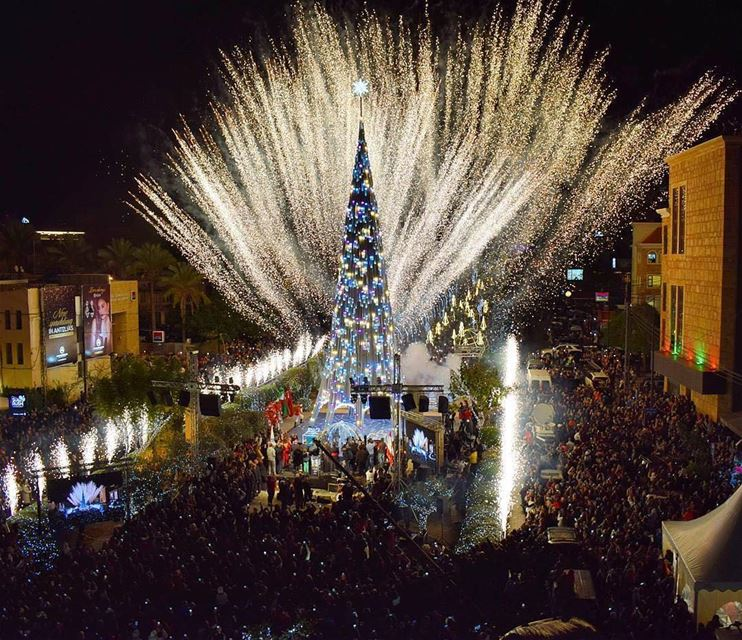 Christmas time from Jbeil شجرة الميلاد في جبيل 😃Photo taken by @joe_koss (Jbeil جبيل)