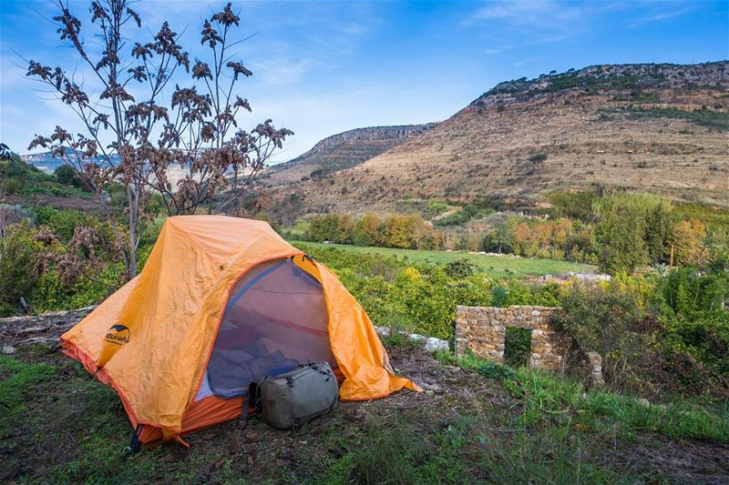 Camping in the historic valley in Aammiq El Chouf ...