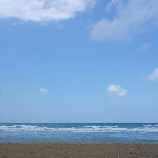 Simply blue sea ...