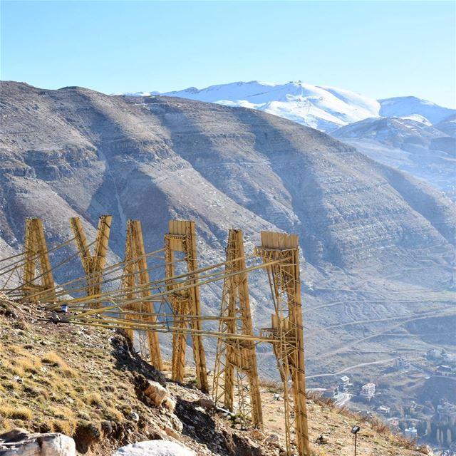 Let the season begin 🏔❄️••••••••••••••••••••••••••• snow winter ... (Faraya, Mont-Liban, Lebanon)