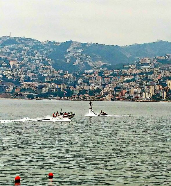 Never ending summer in the City 💙💚. flyboard jounieh lebanon ... (Joünié)