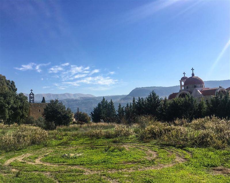 A peaceful sunday 💚 _____________________________________ Maronite ... (`Ain Trez, Mont-Liban, Lebanon)