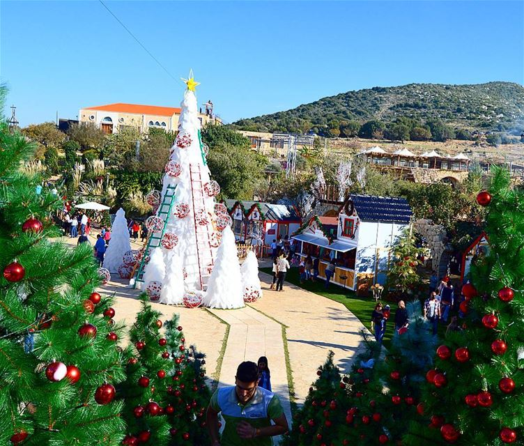 Its christmas in the village😍🌲🇱🇧 christmastime  christmastree ... (Arnaoon Village)