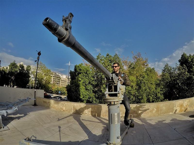 Calm yourself Monday or I'll pull my trigger ... (Athens War Museum)