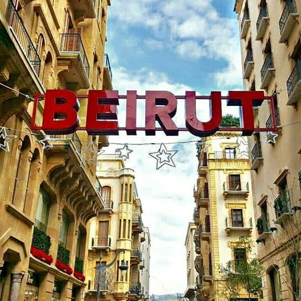 Who beats you Beirut in the East when you wear your Christmas clothe🎄🎊❤... (Beirut Down Town)
