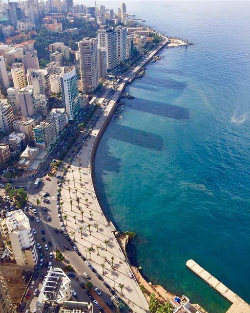Beirut seafront beirut corniche seafront sea lebanonshots ... (Beirut, Lebanon)