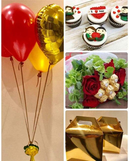 Introducing the golden combo package : lunch box + customized cupcakes +