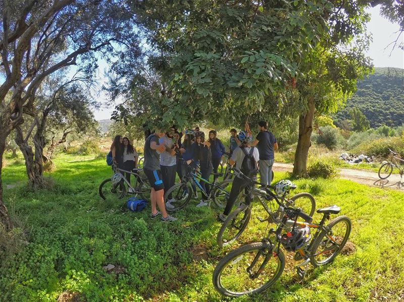 Refreshing break 🚴🌳☘️-Our Private Batroun touristic Tour with Jamhour...