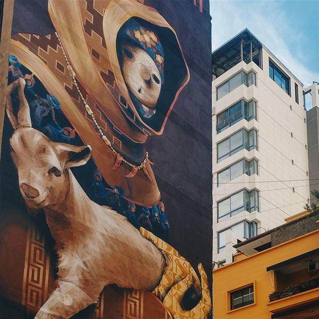 """Pagano"" a 6 storeys high street art by INTI in Hamra Street, Beirut ... (Hamra, Beyrouth, Lebanon)"