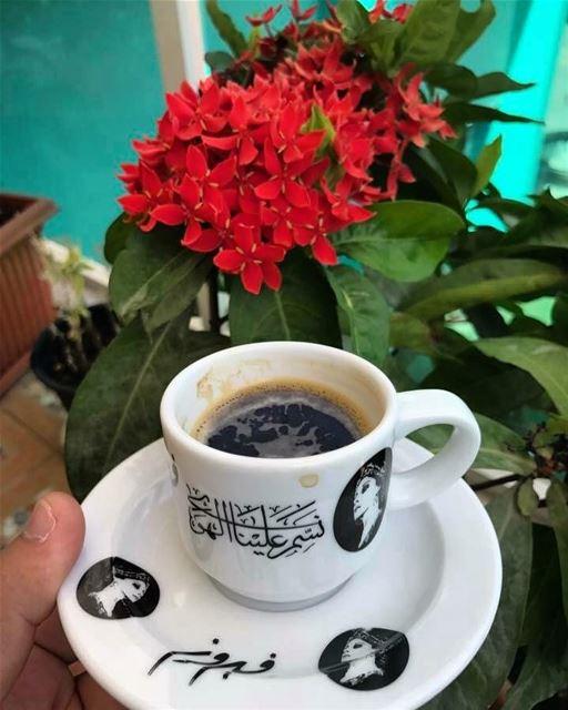 Good morning. morning coffee fairouz customize cup flowers photooftheday... (`Ajman, ʻAjman, United Arab Emirates)