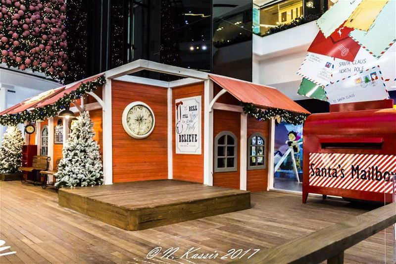 Christmas tree santa station mailbox Beirut Lebanon ... (LeMall)