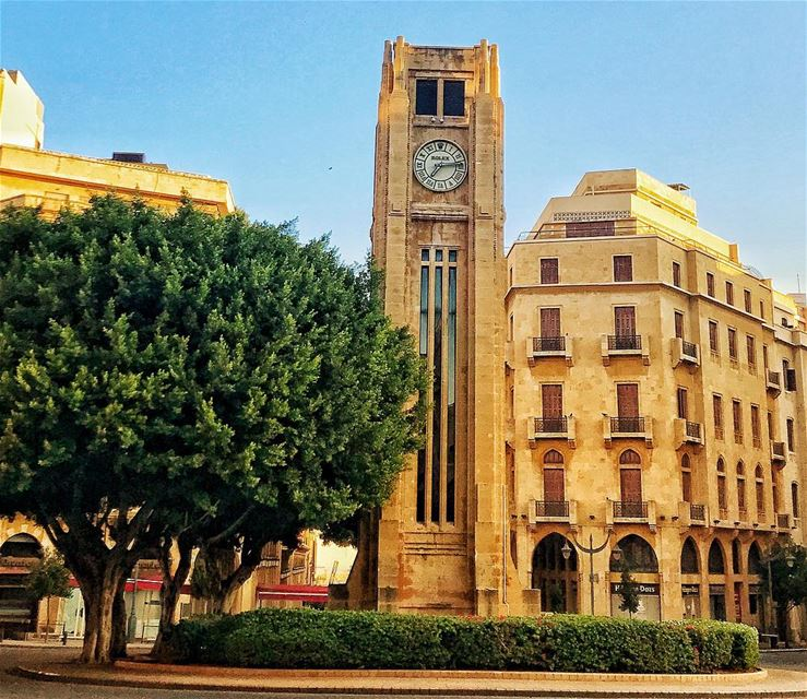 The clock is ticking ............ beirut  bybike  city  clock ... (Downtown Beirut)