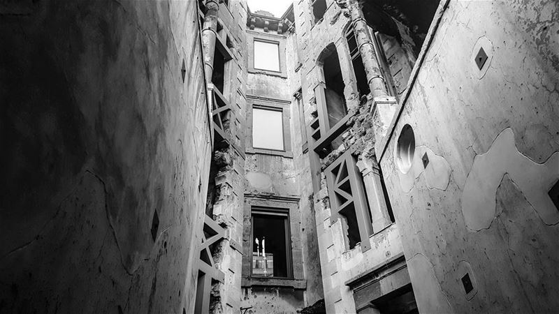 Nominated by @laety.h ♡Seven days. Seven black and white photos about... (Beit Beirut)
