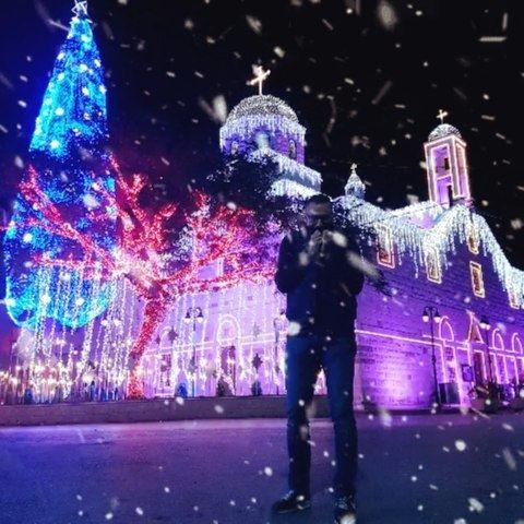 christmas december church snow fun cold winter southlebanon ... (South Governorate)