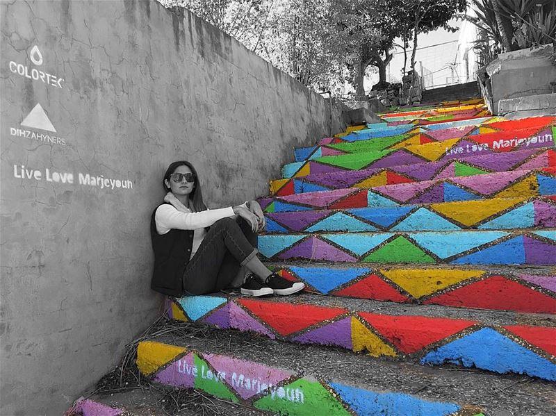 Sometimes all you need is a little splash of colour ❤️💛💚💙💜......... (Marjayoûn, Al Janub, Lebanon)