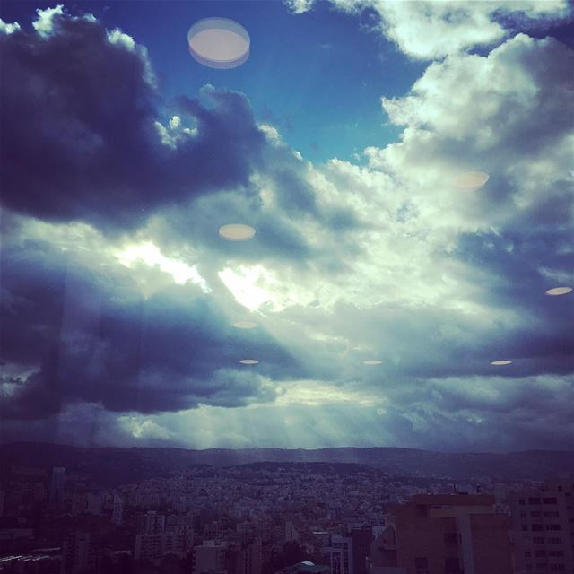 The Calm Before The Storm ⛈. beirut lebanon sky travel natgeotravel ... (Beirut, Lebanon)