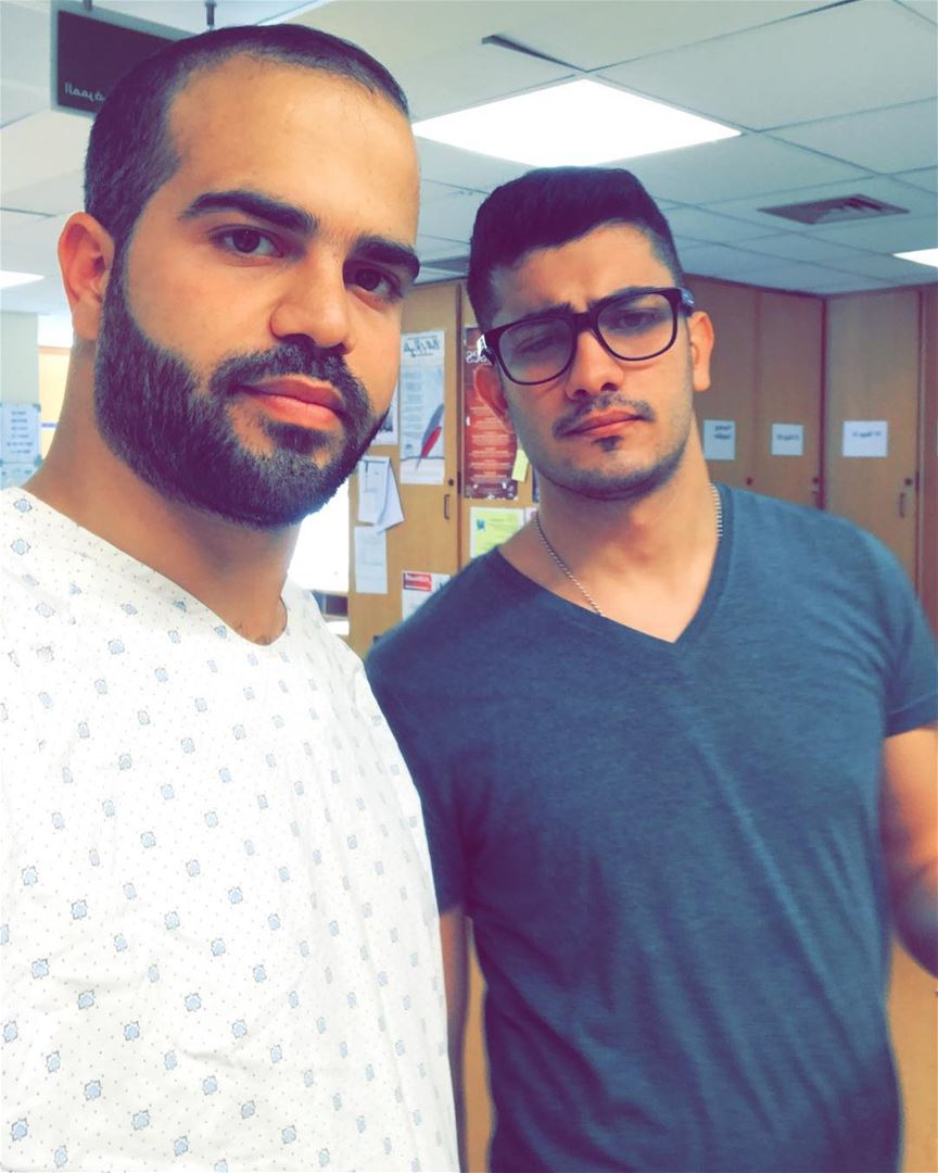 Selfie of the day ... welcome dr dandi 💐...  friend  brother  dandi ... (AUBMC - American University of Beirut Medical Center)