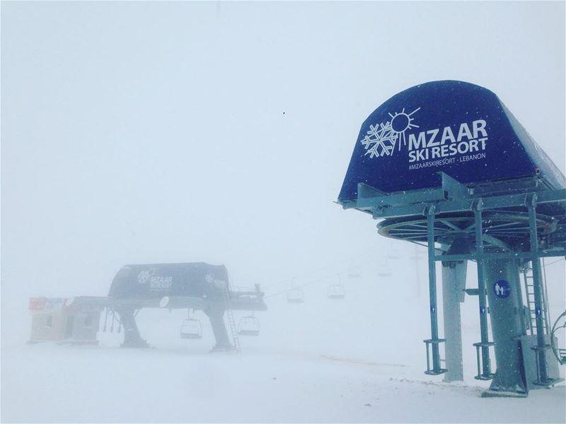 Snow is here ❄️❄️❄️Photo credit : @gmhajj ... lebanon snowishere... (Mzaar Kfardebian)