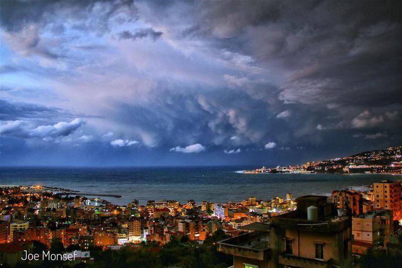 jounieh night winter hdr rain raining photography wonderful ...