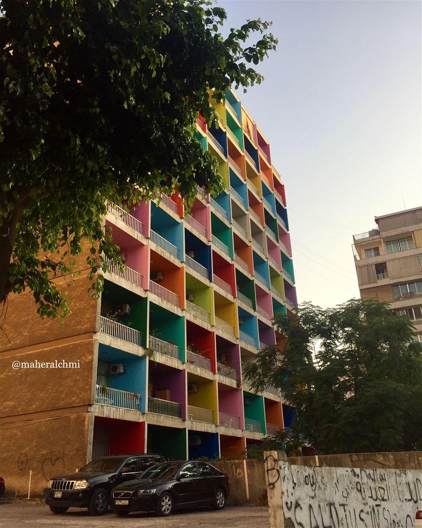 all colors 🌈. . beiruting hamra color love lebanon beirut ... (Beirut, Lebanon)