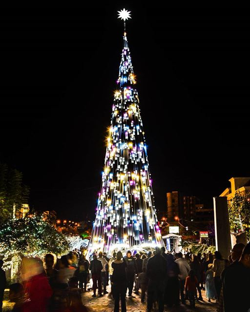 The Christmas Tree of Byblos, Lebanon. livelovebyblos | Good evening dear... (Byblos, Lebanon)