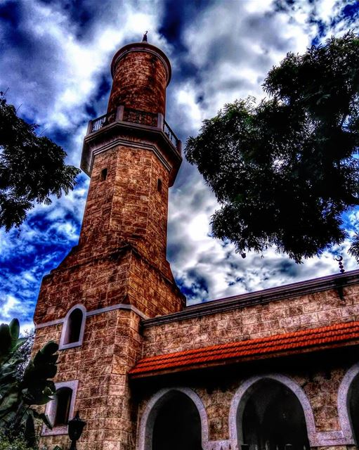 🕌☁🌳•••• lebanon beirut sky clouds cloudy mosque natureshot... (Beirut, Lebanon)