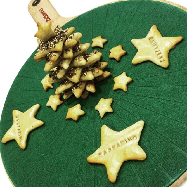 Christmas tree 🎄 made from freshly baked Thyme Stars⭐️ food...