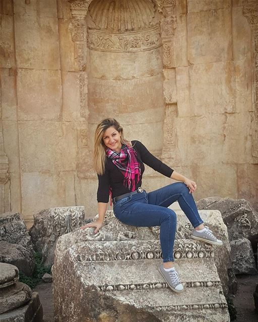 "'Life is not a problem to be solved, but a reality to be experienced.."".... (Baalbek , Roman Temple , Lebanon)"