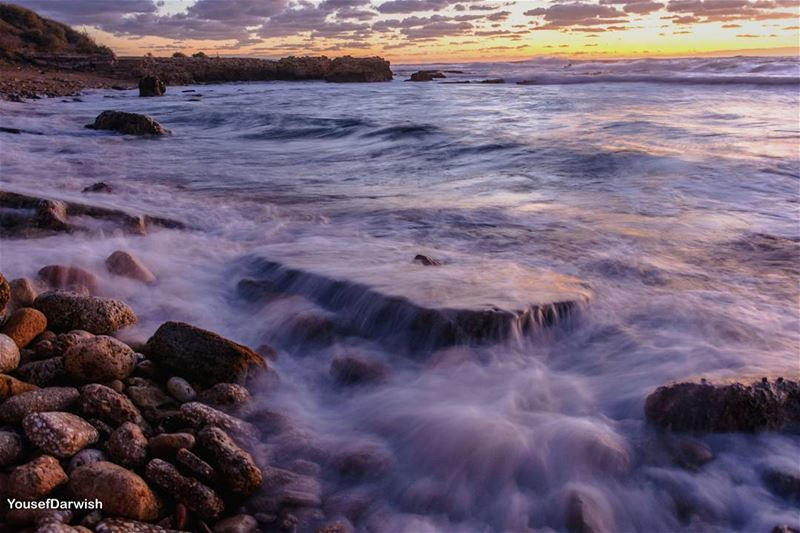 sunset lebanon tyre nikond7100 nikon d7100 sea livelovetyre sour ... (Soûr, Al Janub, Lebanon)