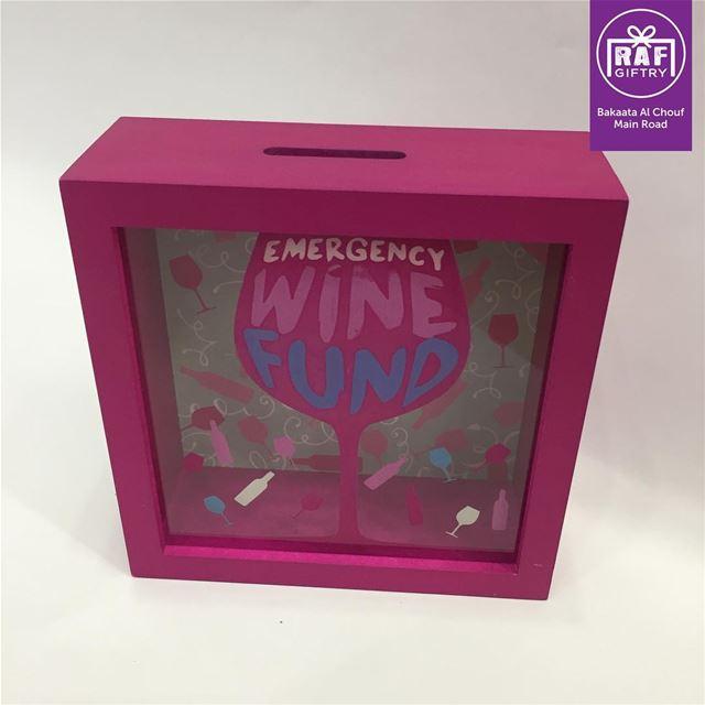 Emergency wine fund 🍷 raf_giftry....... savings wine gift ... (Raf Giftry)