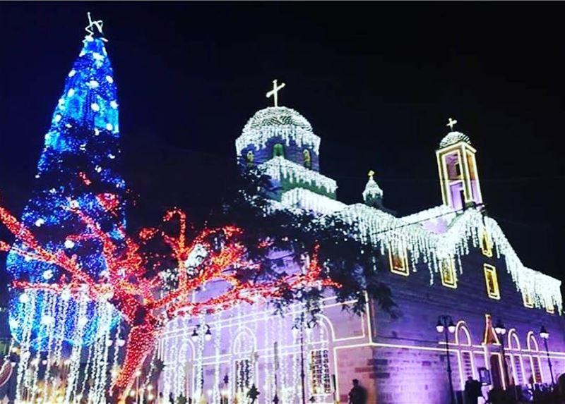 maghdouche maghdoushe maghdoucheh maghdouché lebanon christmas... (Maghdoûché, Liban-Sud, Lebanon)