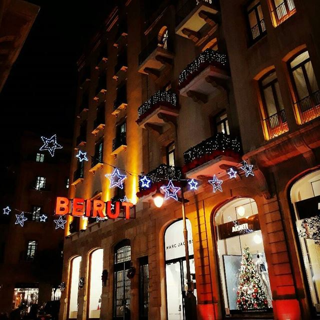 itstheseason 🎄 beirut downtown christmas hope peace love aishti ... (Downtown Beirut)