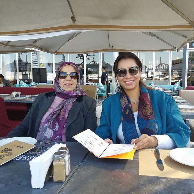 Sob7ie with mom motherdaughter mothercare love eternal coffeetime ... (Zaytouna Bay Beirut)