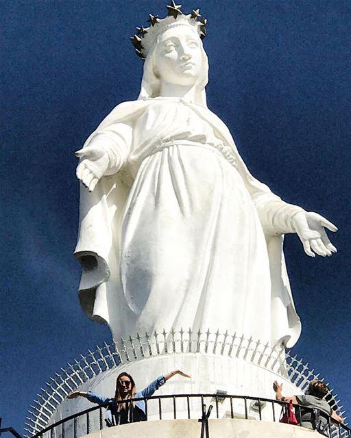 Lady of Harissa, Lebanon 🇱🇧 ⛪️ lebanon lovebeirut Travel ... (Harîssa, Mont-Liban, Lebanon)