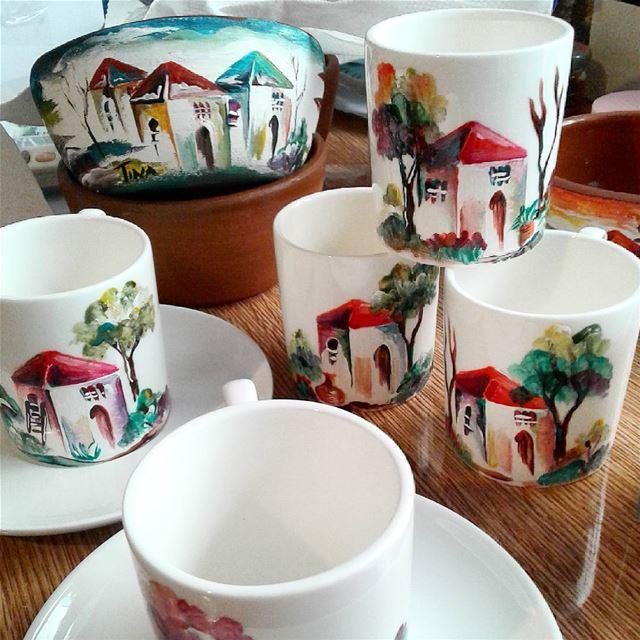 Christmas gifts ❤ handmade handpainted coffecups coffee setofsix ...