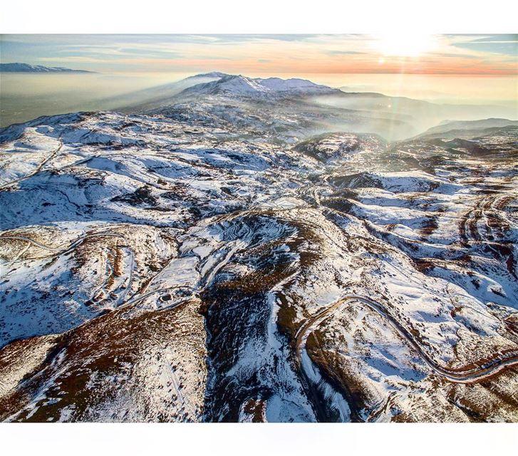 ❄️Flying above Sannine.📍Sannine, Mount Lebanon, Lebanon | 2017..━ ━ ━... (Mount Sannine)