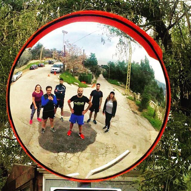 The CREW! 🏃🏻♂️🏃🏼♀️🏃🏻♂️🏃🏼♀️ beiruncrew runners Lebanon ... (Qurnat Shahwan, Mont-Liban, Lebanon)