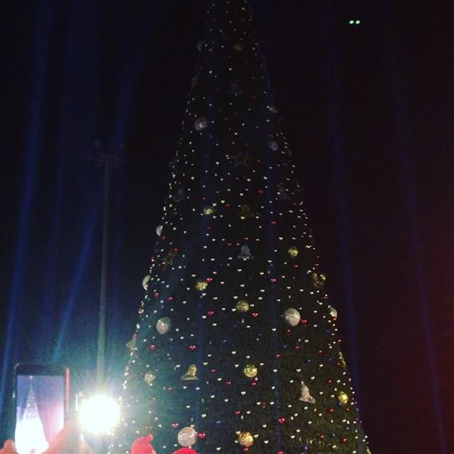 And my first instagram video is about lighting the christmas tree in... (Downtown Beirut)