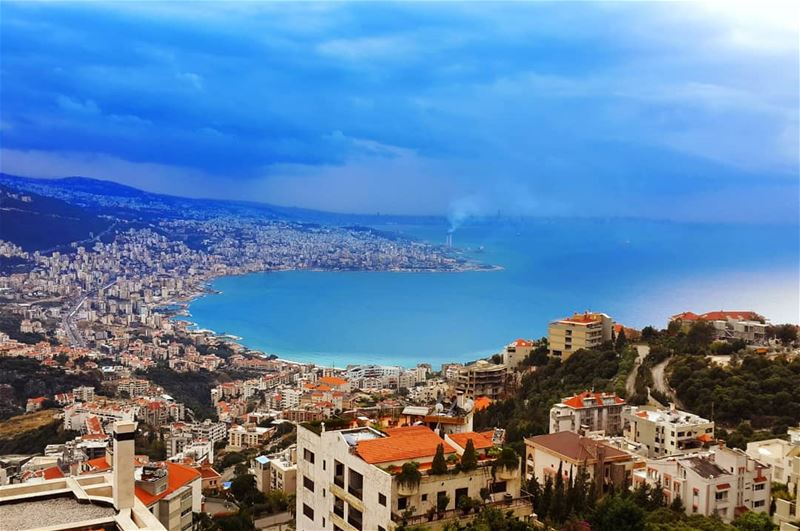 Jounieh bay on a winter's day   bay  sea  mediterrian  winter  jounieh ... (Adma, Mont-Liban, Lebanon)